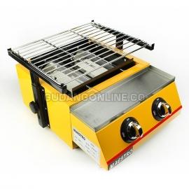 MAESTRO Panggangan Gas Roaster BBQ Kompor 2 Tungku ET K111 B