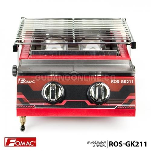 ... FOMAC Panggangan Sosis Steak Ayam Ikan Gas Roaster BBQ Kompor 2 Tungku ROS-GK211 ...